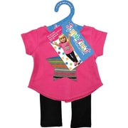 Springfield Collection® Top & Leggings, Star Pink/Black