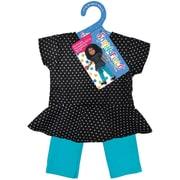 Springfield Collection® Peplum Top & Skinny Pant, Black Polka Dot & Teal