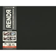 "Crescent® RENDR® No Show Thru Drawing Pad, 11"" x 14"", Black, 16 Sheets"