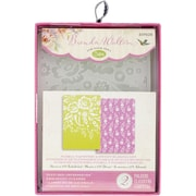 Sizzix® Textured Impressions Floral Tapestry & Sweet Blooms Embossing Folder, A6, 2/Pack