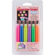 Sakura Hobby Craft 3D Crystal Lacquer Color Pen Set, Assorted, 0.5 oz., 6/Pack