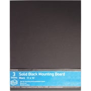 "Crescent® Ultra-Black® Mounting Board, Solid Black, 11"" x 14"", 3/Pack"