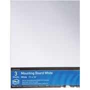 "Crescent® Mounting Board, White, 11"" x 14"", 3/Pack"