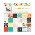American Crafts™ Amy Tangerine Stitched Paper Pad, 12in. x 12in., 48 Sheets
