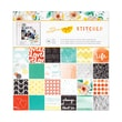 """American Crafts™ Amy Tangerine Stitched Paper Pad, 12"""" x 12"""", 48 Sheets"""