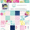 American Crafts™ Dear Lizzy Serendipity Paper Pad, 12in. x 12in., 48 Sheets