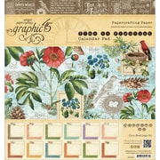 "Graphic 45 Time To Flourish Calendar Paper Pad, 8"" x 8"", 12 Sheets"