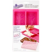 "Wilton® Valentines Day Candy Bark Silicone Mold, Pink, 9 1/2"" x 5 3/4"" x 3/4"""