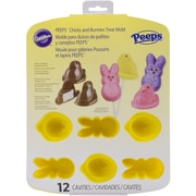 "Wilton® Peeps 12 Cavity Silicone Pan, Yellow, 11 3/4"" x 9"" x 1 1/2"""