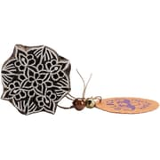 "Blockwallah Exotic Flower Block Stamp, 1 7/8"" x 1 7/8"""