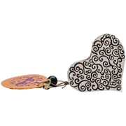 "Blockwallah Spiral Heart Block Stamp, 2"" x 2 3/8"""