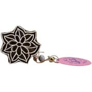 "Blockwallah Star Petals Block Stamp, 2"" x 2"""