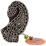 "Blockwallah Traditional Paisley Block Stamp, 3 1/2"" x 2 1/2"""