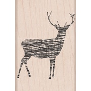 "Hero Arts® Cross-Hatch Reindeer Stamp, 2"" x 3"""