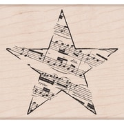 "Hero Arts® Music Star Stamp, 3 1/4"" x 3 3/4"""