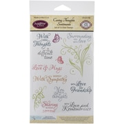 "Justrite Papercraft® Caring Thoughts Stamp Set, Clear, 4"" x 6"""