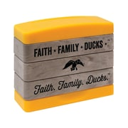 "Kellycraft Duck Commander® Stakz Faith, Family, Ducks Stamp Set, Tan/Yellow, 2"" x 2.75"" x 0.9"""