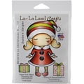 La-La Land Crafts Paper Doll Marci, Christmas Elf Cling Stamp, 4in. x 3in.