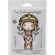 "La-La Land Crafts Egyptian Mummy Marci Cling Stamp, 4"" x 3"""