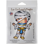 "La-La Land Crafts Egyptian Mummy Luka Cling Stamp, 4"" x 3"""