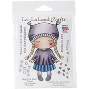 "La-La Land Crafts Paper Doll Marc, Winter Cling Stamp, 4"" x 3"""