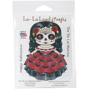 "La-La Land Crafts Dia De Los Muertos Marci Cling Stamp, 4"" x 3"""