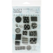 """My Sentiments Exactly Letter Background Stamp, Clear, 4"""" x 6"""""""