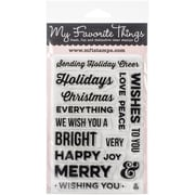 "My Favorite Things Merry Messages Stamp, 4"" x 6"""