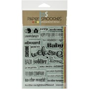 "Paper Smooches Welcome Wagon Stamp, Clear, 4"" x 6"""