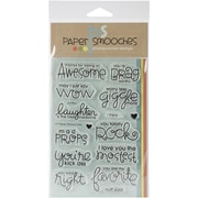 "Paper Smooches Uplifters Stamp, Clear, 4"" x 6"""