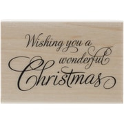 """Penny Black® Festive Wishes Mounted Stamp, 2"""" x 2 3/4"""""""