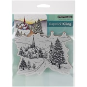 """Penny Black® Snowy Hamlet Cling Stamp, 3.7"""" x 4.7"""""""