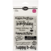 "Sizzix® Birthday Stamp, Clear, 4"" x 6"""