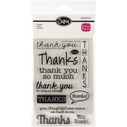 "Sizzix® Thanks Stamp, Clear, 4"" x 6"""