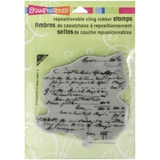 "Stampendous® Vintage Contract Cling Stamp Set, 5 1/2"" x 4 1/2"""