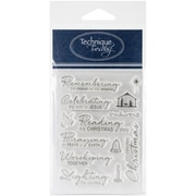 "Technique Tuesday® Reason for the Season Stamp, Clear, 3"" x 4"""