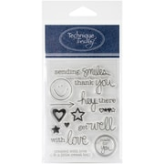 "Technique Tuesday® Sending Smiles Stamp, Clear, 3"" x 4"""