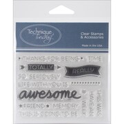 "Technique Tuesday® Say It 2 - Awesome Stamp, Clear, 3"" x 4"""