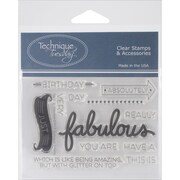 "Technique Tuesday® Say It 2 - Fabulous Stamp, Clear, 3"" x 4"""