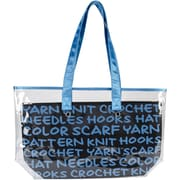 "Lion Brand® 2-In-1 Yarn Tote, Blue, 11"" x 19"" x 5"""