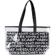 "Lion Brand® 2-In-1 Yarn Tote, Black, 11"" x 19"" x 5"""