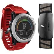 Garmin® Fenix™ 3 Multisport Training GPS Watch With Performer Bundle, Silver
