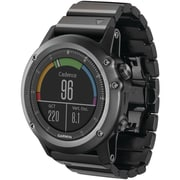 Garmin® Fenix™ 3 Multisport Training GPS Watch With Metal Band, Sapphire