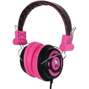 Hello Kitty® Over-The-Ear Foldable Stereo Headphone, Pink/Black
