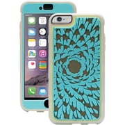 """Griffin Identity™ PerFormance Case For 5.5"""" iPhone 6 Plus, Flower Turquoise/Gray/Light Gray"""