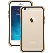 """Macally Flexible Frame Protective Case For 4.7"""" iPhone 6, Metallic Champagne"""