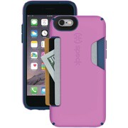 "Speck® CandyShell® Card Case For 4.7"" iPhone 6, Beaming Orchid Purple/Deep Sea Blue"