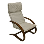 International Caravan Stockholm Contemporary Faux Leather Lounge Chair; Ivory