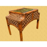 Spice Islands Mauna Loa End Table; Brownwash