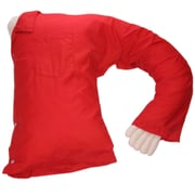 Deluxe Comfort Boyfriend Body Cotton Bed Rest Pillow; Red